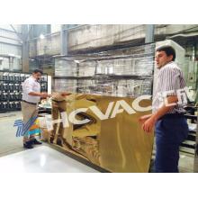 Équipement de revêtement de nitrure de titane de feuille d'acier inoxydable / machine de revêtement de feuille d'or PVD