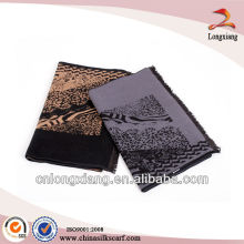 fashion newest brushed mens leopard indian silk scarf