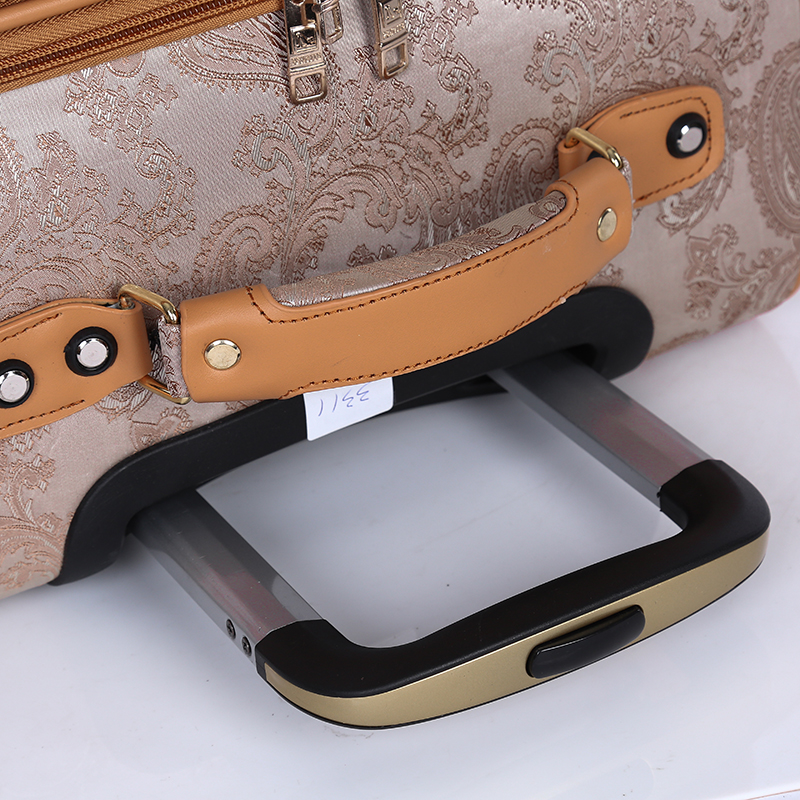 Fashion PU leather rolling luggage sets4