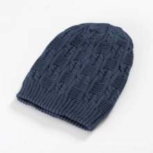 Womens Mens Unisex Knitted Cable Winter Warm Double Layer Hat Beanie (HW142)