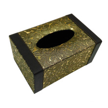 Boîte en tissu rectangulaire en cuir pour hôtel / chambre d'hôte