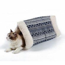 Cat Rustling Sack Funcional Inverno Gato Quente Animal de Estimação Esteira da Caverna
