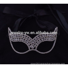 fashion metal silver plated crystal masquerade sex party masky