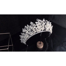 Europe Fashion Handmade High Quality  Vine Pearl beauty Queen Headpiece Wedding Bridal Tiara Crowns and veils