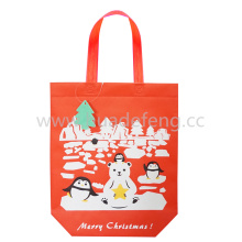 Large Colored Non-woven Red Shopping Bags Iridescent Handles
