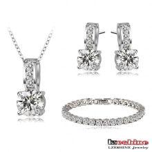 Nouveaux Bracelets de mariée Collier Boucles d'oreilles Mode (CST0025-B)