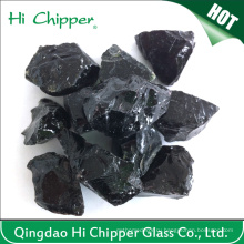 Черный цветной большой озеленение стеклянный блок