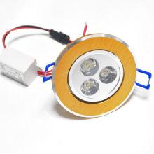 100-240v éclairage encastré en béton 3w downlights
