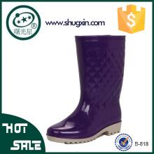 señoras hermosas lluvia zapatos damas cuña zapatos de lluvia