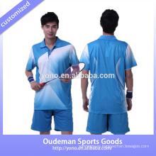La camiseta de bádminton personalizada a medida en seco y de alta calidad diseña el bádminton para parejas y con badminton de bajo precio