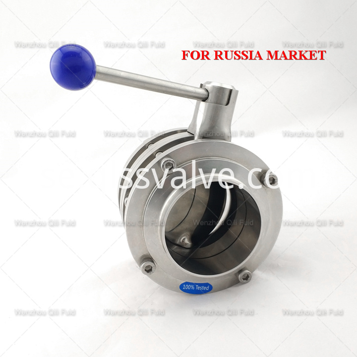 Sanitary stainless steel butterfly valve x111