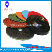 4 inch Premium Quality Countertop Used Wet/Dry Granite Stone Polishing Pad
