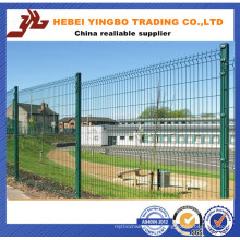 PVC Coated Welded Wire Mesh Fence / 3 Bends Wire Mesh Fence with Post
