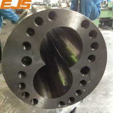 double hole cylinder bimetallic screw and barrel for plastic extruder