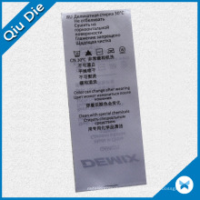 3.5*8.5cm Non-Woven Printed Instruction Care Label for Garment