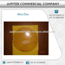 Superior Grade Precise Finishing Round Mica Disc Available for Bulk Buyers