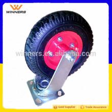 """bon marché 240mm 8 """"roue roulettes industrielles fixes et pivotantes"""