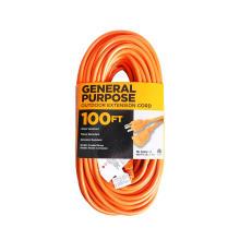 SJTW 25 Feet All Weather Contractor Grade Extension Cord 16 Gauge in Orange