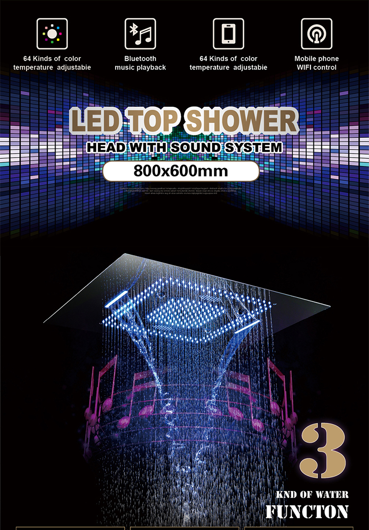 High-quality concealed shower set for hotels