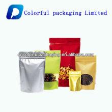 saco plástico do alimento dos frutos secos com zíper / saco de empacotamento secado impresso personalizado dos alimentos