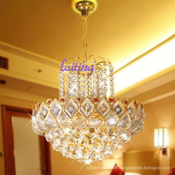 Lámpara colgante de oro Lámpara pequeña de cristal francés LT-70071