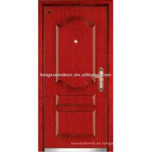 Panel de diseño de madera de acero blindado puerta
