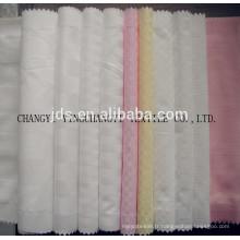 Tissu blanchi jacquard polyester