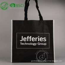 Reutilizable personalizado pp bolsa de compras de comestibles no tejido con logo
