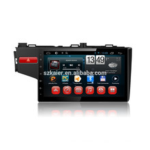 Kaier fábrica -Quad core Full touch android 4.4.2 carro dvd para Honda Fit + OEM + 1024 * 600 + link mirrior + TPMS