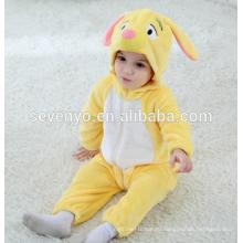 Мягкие детские Фланелевые ползунки onesie пижамы животных костюм костюмы,спальные износа,милый желтый ткань,ребенок с капюшоном полотенце