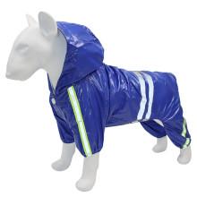 Cross-border hot style medium and large dog four-legged reflective raincoat