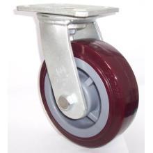 Rodapé de PU giratório de serviço pesado (vermelho)