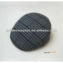 Sombrero rayado plano de la boina del algodón para la venta