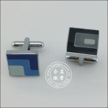 Acessórios de vestuário de metal esmalte, Square Cufflink (GZHY-XK-001)