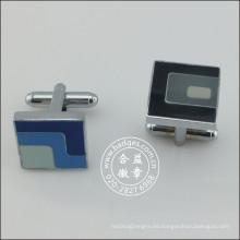 Kundenspezifisches Herz-Gold überzogener Knopf, Art- und Weisemanschettenknopf (GZHY-KA-098)