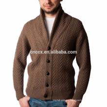 15PKSW24 Men's cable knit 100% mercerized wool sweater