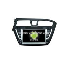 Quad core 4.4 Android dvd del coche con espejo enlace / DVR / TPMS / OBD2 para 8 pulgadas pantalla táctil completa 4.4 Android sistema HYUNDAI I20