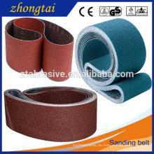 Heißes verkaufendes Aluminiumoxyd-Gurte Flexibles abschleifendes Band des Schleifmittels des Schleifmittels