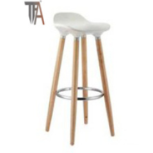 ABS Seat and Beech Wood Legs Bar Chair