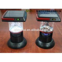 Plástico alto lúmenes mano lámpara de emergencia solar mosquito asesino, solar linternas fabricantes