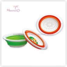30*23*11cm Collapsible Plastic Basket Fruit/Vegetable Storage Strainer Colander