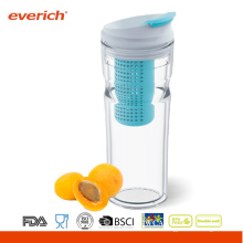 Everich doble pared 16OZ nuevo tritan vaso con fruta infuser
