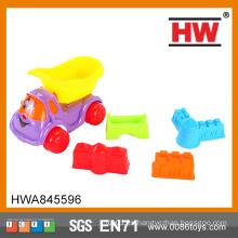 Venta caliente colorido 5PCS / set DIY juego establecido en verano plástico arena playa de juguete