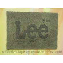 Marken-Logo-PU-Leder-Patch für Denimjeans
