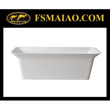 Прямоугольная Отдельностоящая Ванна твердая поверхность матовая Белая (БС-8630)