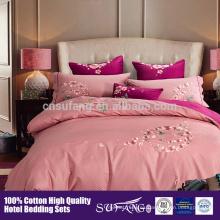 Cubierta de edredón caliente del algodón del hotel de lujo de la venta 2017 de Amazon, cubiertas del lecho fijadas tamaño de la reina