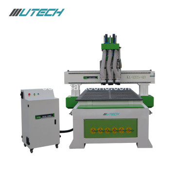 Three independent heads MDF wood cnc router 1325