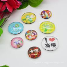 Matériel de verre personnalisé Custom Epoxy Fridge Magnets for Home Decoration