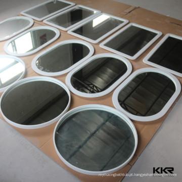 Vários Espelho de alta resistência do banheiro do projeto com quadro de pedra