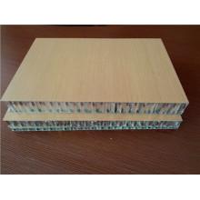 Paneles de panal ignífugo HPL de color de madera para decoración de buques